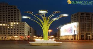 green energy blooms on solar tree ellume solar pvt ltd