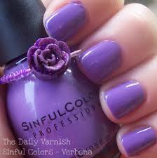 sinful colors verbena purple nail polish dupe for opi planks a