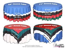 5ft round table in inches this linen size chart is helpful when deciding what size lines you