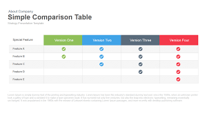 simple comparison table powerpoint and keynote template slidebazaar