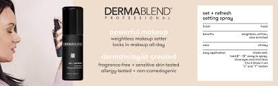 Non Comedogenic Halloween Makeup by Amazon Com Dermablend Makeup Setting Spray 3 4 Fl Oz Luxury Beauty
