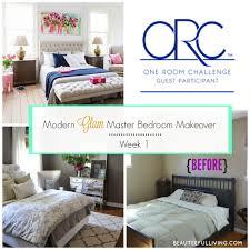 bedroom makeovers modern glam master bedroom makeover u2013 orc week 1 beauteeful living