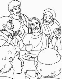 supper jesus coloring free printable coloring pages