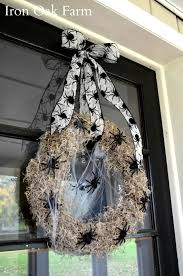 Halloween Door Wreath by Iron Oak Farm Halloween Dollar Store Martha Stewart Spider Wreath
