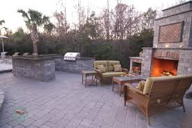 outdoors best poolside outdoor kitchen kits with fireplace and