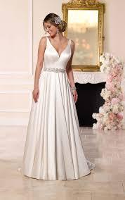 s wedding dress satin a line wedding gown stella york wedding dresses