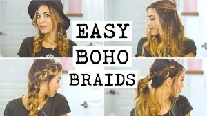 easy hairstyles with box fishtales 4 easy boho braid hairstyles youtube