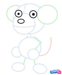 how to draw how to draw a monkey hellokids com