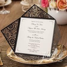 Wholesale Wedding Invitations Charming Black Floral Laser Cut Wholesale Wedding Invitations