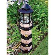 solar lighthouse light kit yard lighthouse ebay