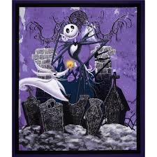 tim burton u0027s the nightmare before christmas 36 u0027 u0027 panel purple