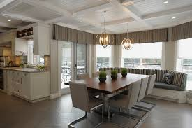 valance curtains in dining room traditional with herringbone