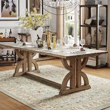 rectangular pine dining table paloma salvaged reclaimed pine wood rectangular trestle table by