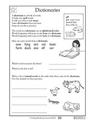 1st grade kindergarten reading writing worksheets dictionary