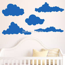 cloud wall murals promotion shop for promotional cloud wall murals hot cloud sky silhouette wall art stickers decal home diy decoration decor wall mural removable bedroom stickers 57x153cm