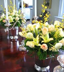 modern centerpieces dining table dining table silk flower arrangements floral for