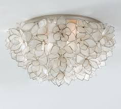 Pottery Barn Ceiling Light Capiz Oversized Flushmount Pottery Barn