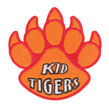 kid tiger paw print patch