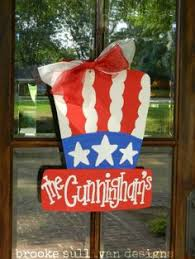 Fourth Of July Door Decorations Wooden Letter J Patriotic Door Hangers By Rkdragonfly On Etsy