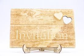 laser cut wood invitations rustic wooden wedding invitation lasercut unique wedding