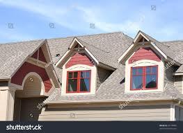 gable dormers roof residential house stock photo 64149865
