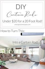 20 Foot Curtains Diy Curtain Rods 20 Diy Curtain Rods Custom Curtains And