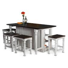 sunny designs bourbon dining table with kitchen island hayneedle