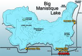 Map Of The Upper Peninsula Of Michigan Curtis Michigan And The Manistique Lakes Area Maps