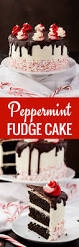 peppermint fudge cake recipe baked by an introvert