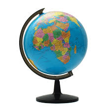 1pc 32cm world globe map ornaments with swivel stand home office