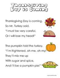 thanksgiving poems for shared reading or journals by called to kinder