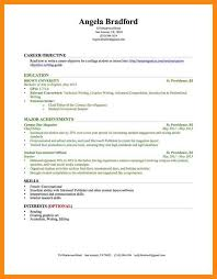 Resume Examples No Experience College Students by Example Of Resume For College Student With No Experience Templates