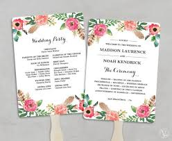 program fans wedding diy wedding program fans emmaline wedding
