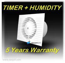 dospel 100mm extractor fan timer humidity sensor ebay