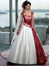 Gothic Wedding Dresses Discount Red And White Gothic Wedding Dresses Cap Sleeves Ruched