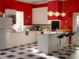 Retro Kitchen Design by Retro Kitchens White Granite Countertop In Open Kitchen Floor Plan