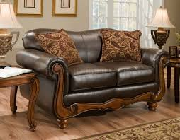 Traditional Tufted Sofa by Traditional Leather Sofa Set Melange Traditional Leather U0026 Fabric