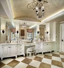 master bathroom layouts mediterranean with chandelier widespread
