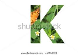 letter k butterfly background inside stock photo 448553839