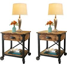side table set of 2 better homes and garden rustic country side table set of 2 for