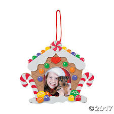 gingerbread house picture frame ornament craft kit trading