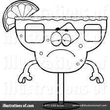 margarita glass cartoon margarita clipart 1200706 illustration by cory thoman
