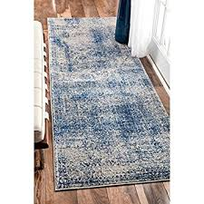 Turquoise Runner Rug Amazon Com Nuloom Vintage Distressed Blue Runner Rug 2 U00278 X 8