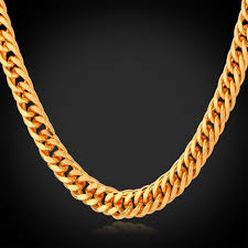 aliexpress buy new arrival 18k real gold plated aliexpress buy 2015 fashion jewelry gold necklace 6mm wide