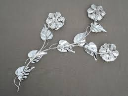 silver flowers smartness inspiration chrome wall or metal endearing 41 silver