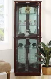 Corner Curio Cabinet Kit Lighted Curio Cabinet Ebay