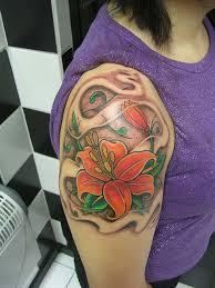 26 best shoulder and upper arm flower tattoos for women images on
