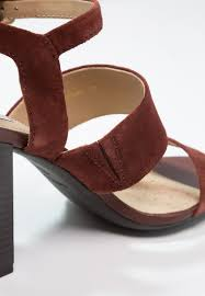 geox audalies sandals cigar women shoes strappy dark red