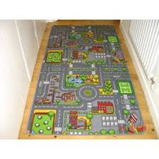 rug with roads for toy cars play inc road town car play mat