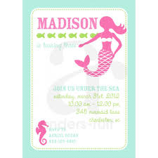 create easy mermaid party invitations free ideas egreeting ecards